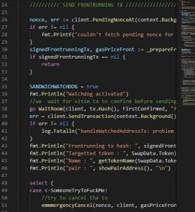 Frontrun Code